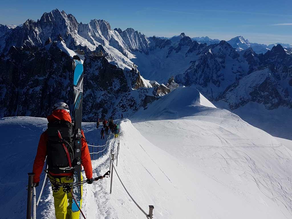 Ski de randonnée Vallée Blanche Chamonix Mont-Blanc