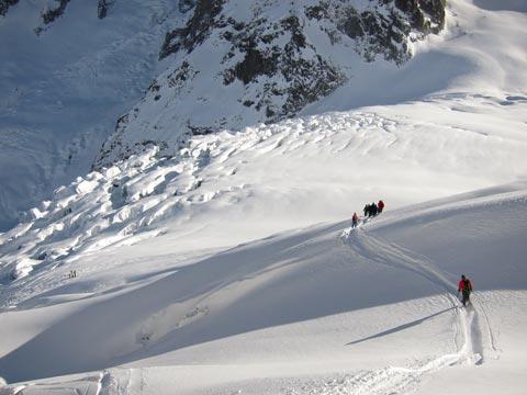 Descente à ski ou en snowboard de la Vallée Blanche