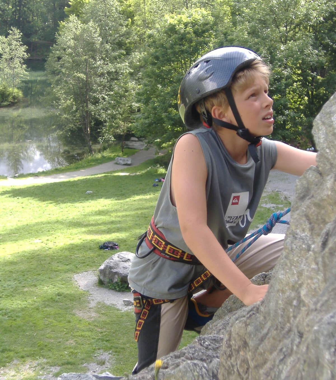Découverte de l'escalade à Chamonix Mont-Blanc.
